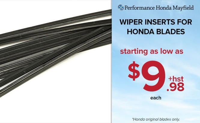 Wiper Inserts for Honda Blades