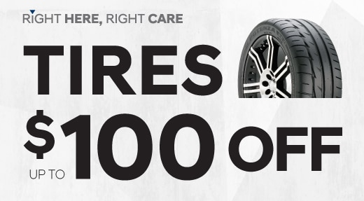 Tire Promotion $100 Off