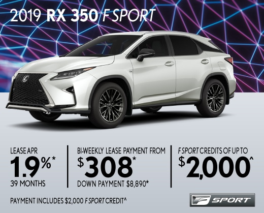 2019 RX350 Special Offer