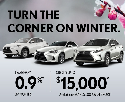 Lease from 0.9% for 39 months on select models.