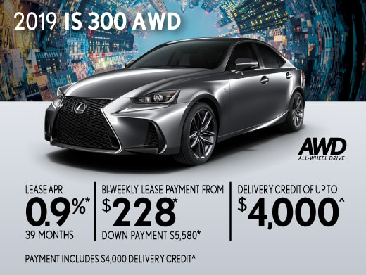 2019 IS 300 AWD Special Offer