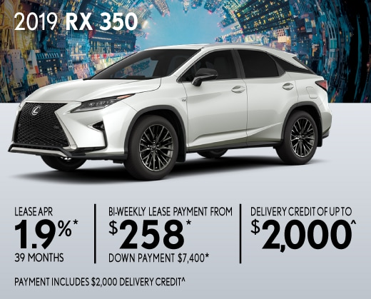 2019 RX 350 Special Offer