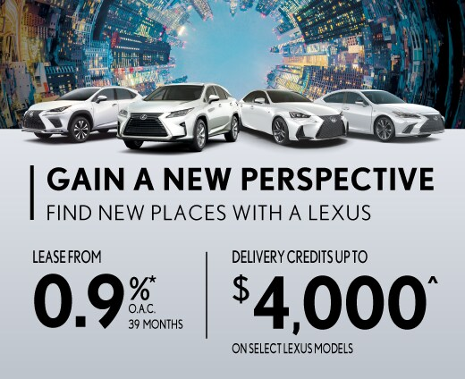 Delivery Credits Up To $4,000 on select Lexus models.