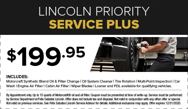 Lincoln Priority Service Plus