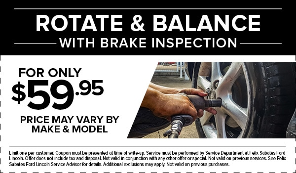 Rotate & Balance with Brake Inspection