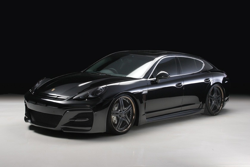 porsche panamera black and white. just like any porsche the sleek profile that consumes this monster beauty is something to behold wald international a japanese aftermarket tuning panamera black and white