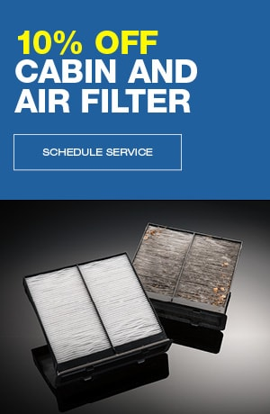 10% off Cabin and Air Filter