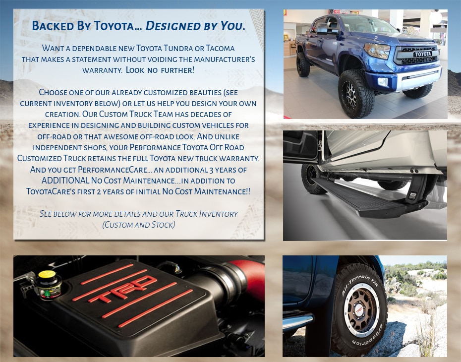 Customized Trucks From Performance Toyota. Popular Customized ...