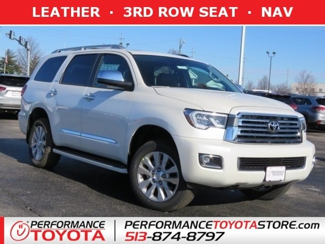 New 2019 Toyota Sequoia Platinum Suv Blizzard Pearl Near