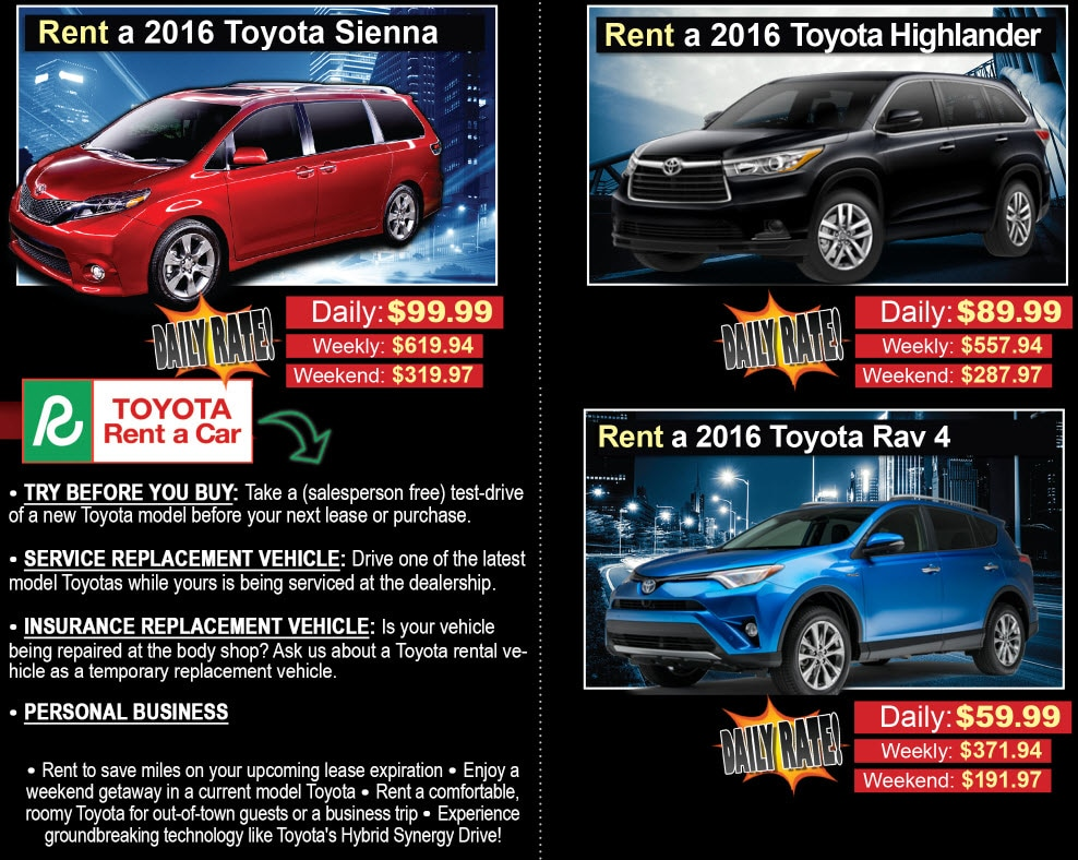 Rent A Toyota | Performance Toyota in Fairfield, OH ...