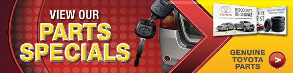 Check Out Our Genuine Toyota Parts Specials