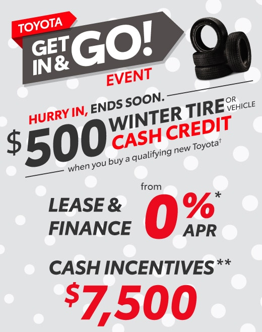 Toyota Get In and Go Special Offer