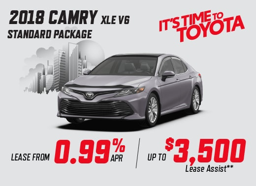 2018 Camry XLE Special Offer