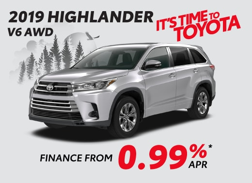 2019 Toyota Highlander Special Offer