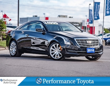 2016 Cadillac ATS 4, 2.0L TURBO. LEATHER. HTD SEATS. ROOF. ALLOYS Coupe