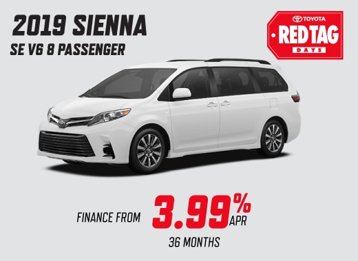 2019 Toyota Sienna Special Offer