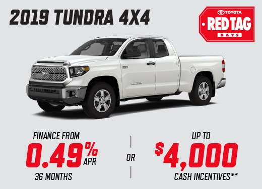 2019 Toyota Tundra Special Offer