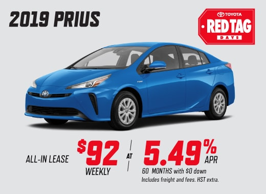 2019 Prius Special Offer
