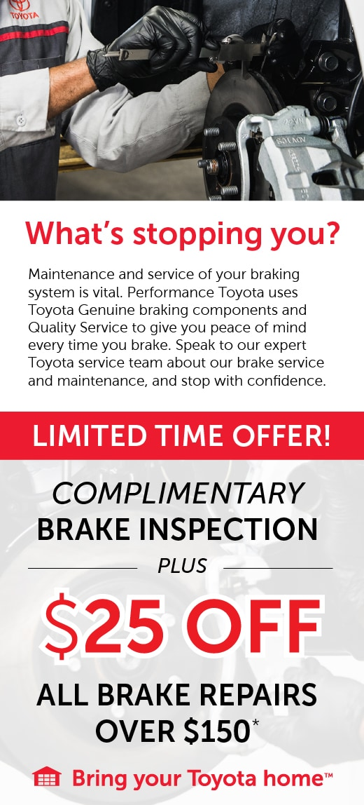 25 off all  brake repairs at Performance Lexus