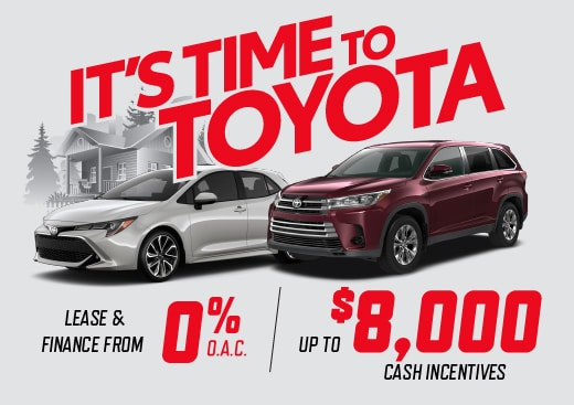Its Time To Toyota Special Offers