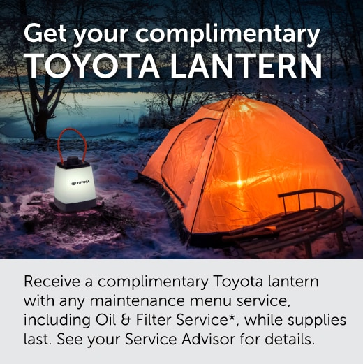 Get your complimentary Toyota Lantern