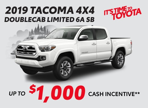 2019 Toyota Tacoma Special Offer