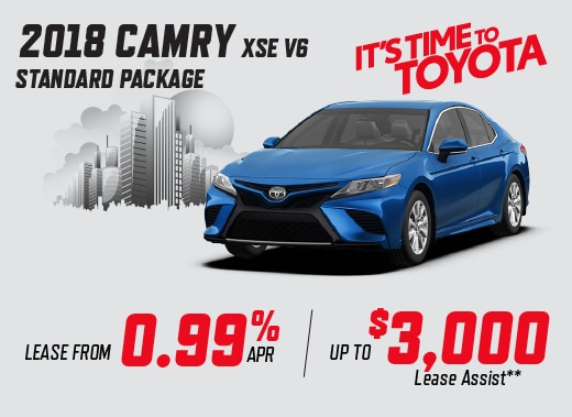 2018 Camry XSE V6 Special Offer