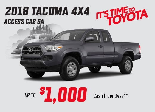 2018 Toyota Tacoma Access Cab Special Offer