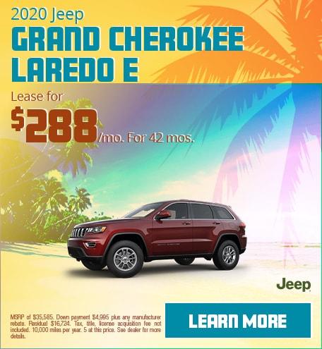 2020 Jeep Grand Cherokee Laredo E - June 2020