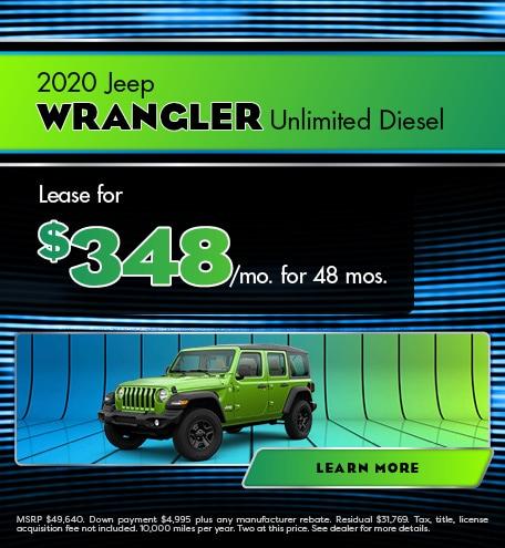 2020 Jeep Wrangler Unlimited Diesel - January 2021