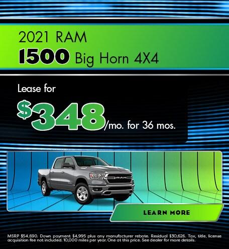 2021 RAM 1500 Big Horn 4X4