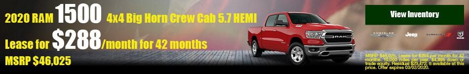 2020 RAM 1500 4x4 Big Horn Crew Cab 5.7 HEMI