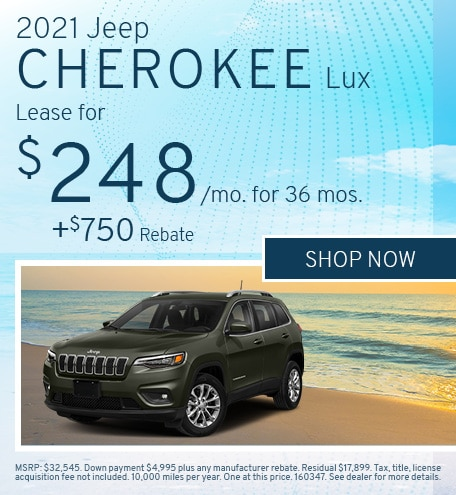 2021 Jeep Cherokee Lux - April