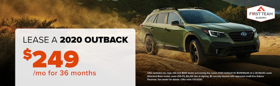 2020 Outback Lease: $249/mo for 36 months