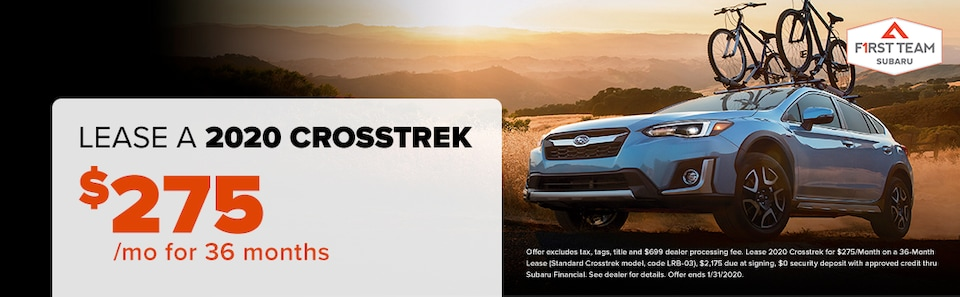 2020 Crosstrek Lease: $275/mo for 36 months