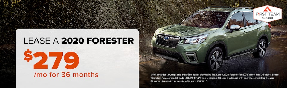 2020 Forester Lease: $279/mo for 36 months