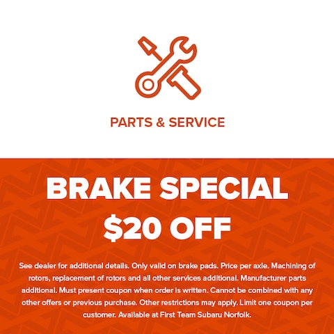 Brake Special $20 Off