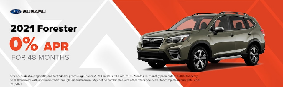 2021 Forester 0% APR for 48 Months