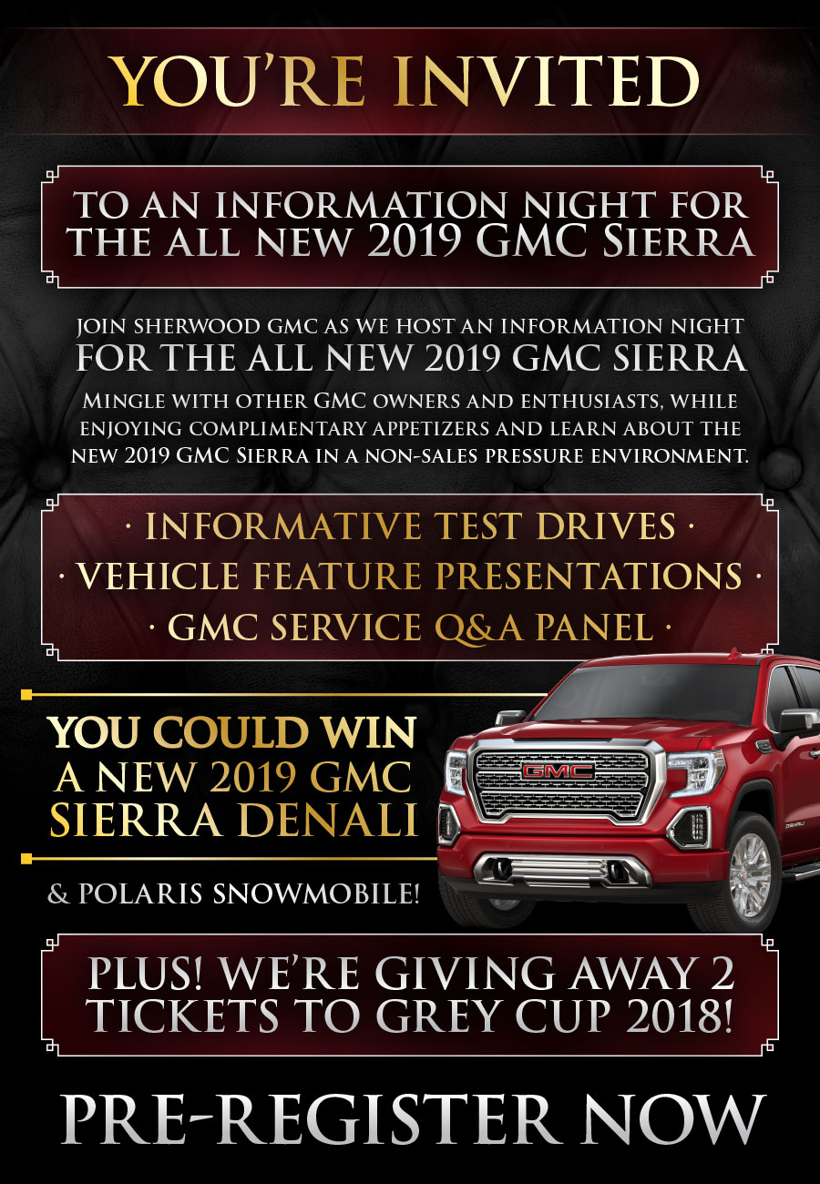 Rsvp To Our Special Event Sherwood Buick Gmc Alberta S Capital