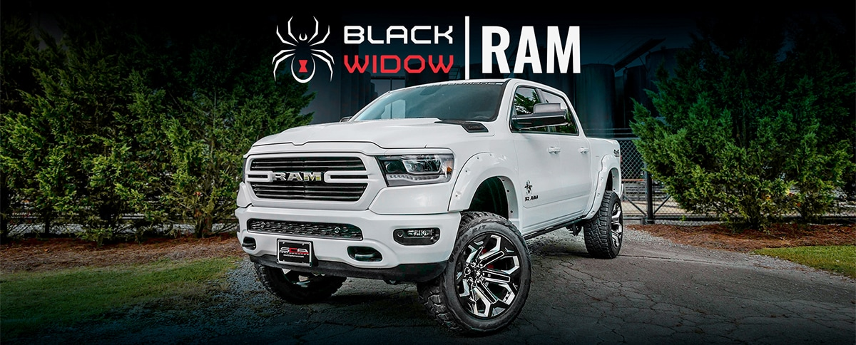 Custom Black Widow Ram Trucks