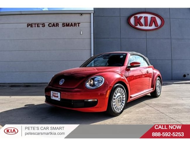 used 2015 volkswagen beetle convertible for sale at pete's car smart