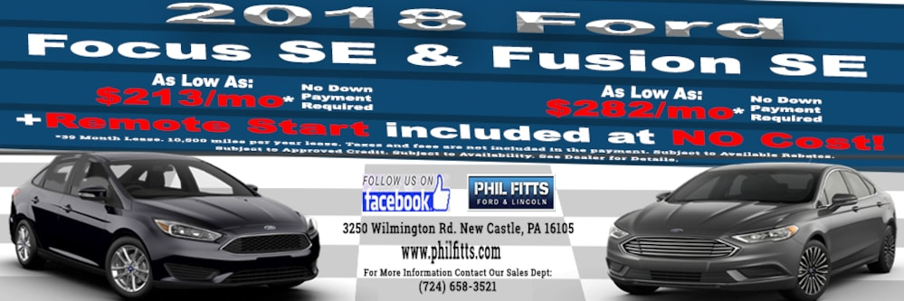 Phil Fitts Ford Lincoln Ford Dealership In New Castle PA - Ford lincoln