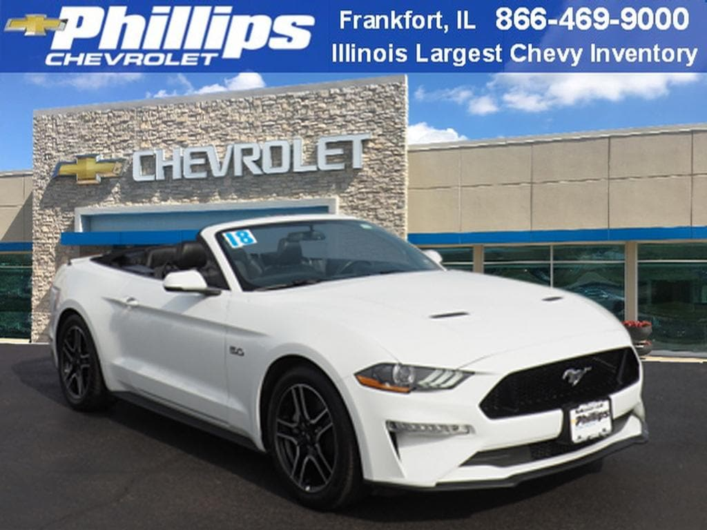 Used 2018 ford mustang convertible for sale at phillips chevrolet vin 1fatp8ff5j5109793