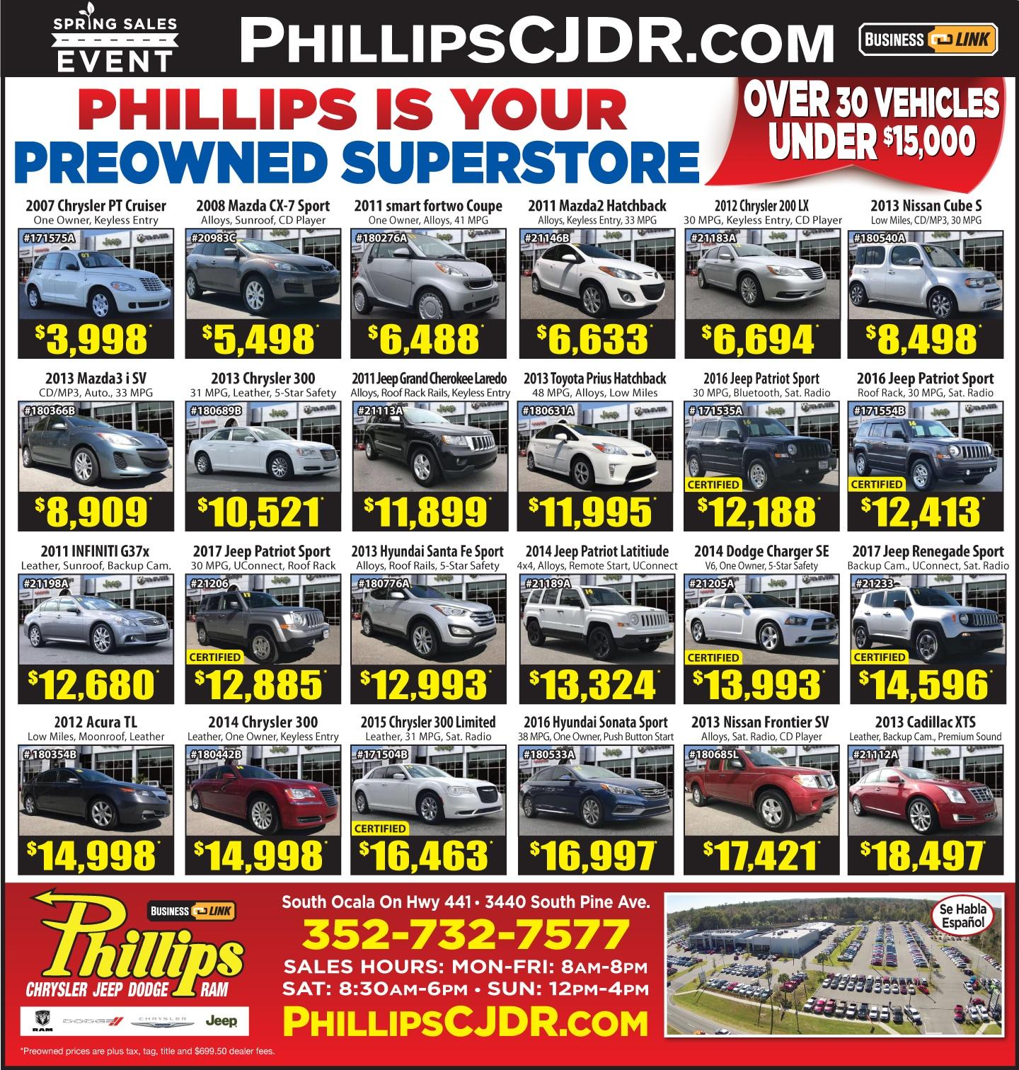 Phillips Chrysler Jeep Dodge Ram | New Chrysler, Jeep, Dodge, Ram ...