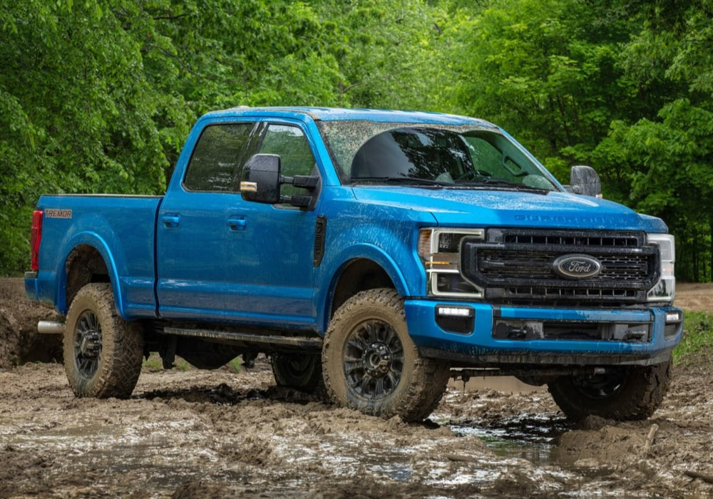 2020 Ford Super Duty F-250 Tremor Package blue exterior color