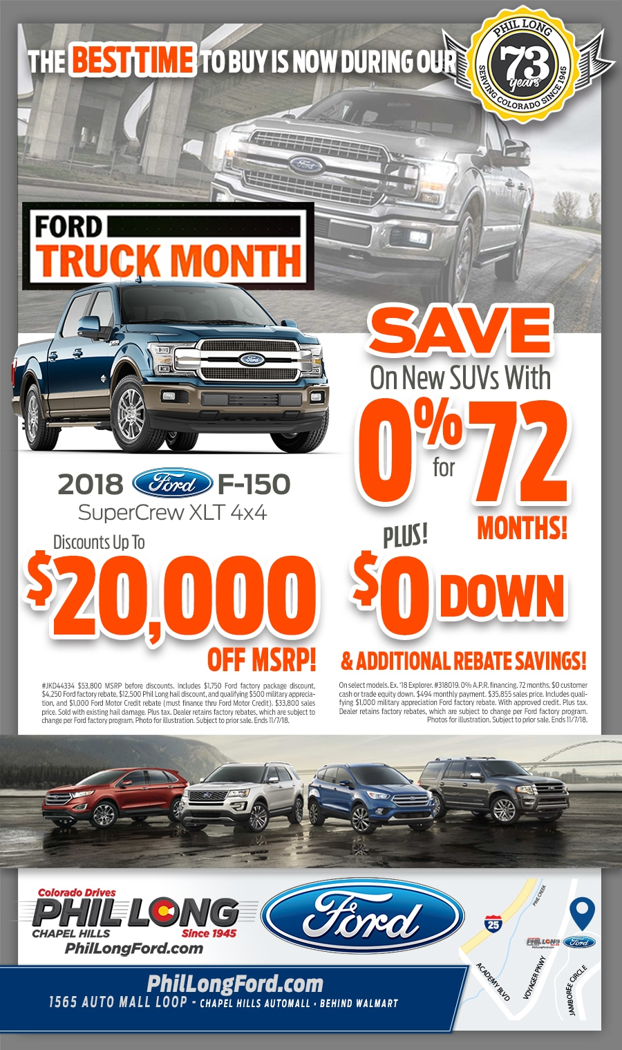 New Ford deals and specials in Colorado Springs at Phil Long Ford Chapel Hills