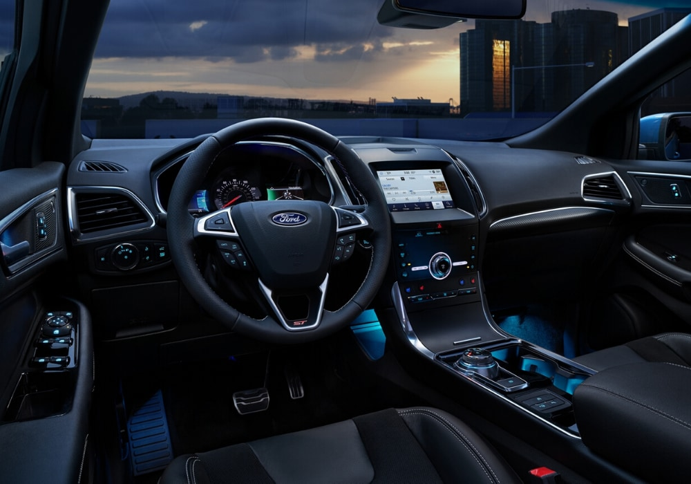Interior front cabin design inside the new 2020 Ford Edge