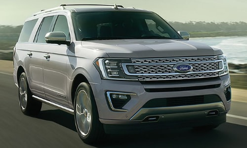 2020 Ford Expedition driving in motion sea side highway
