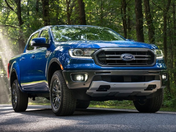 2020 Ford Ranger exterior appearance blue color