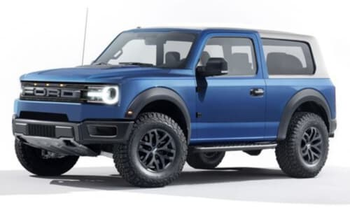 2020 Ford Bronco concept night desert rocky road